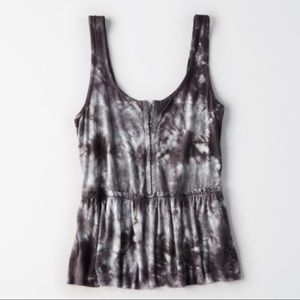 American Eagle Soft & Sexy Tie Dye Tank Top Medium